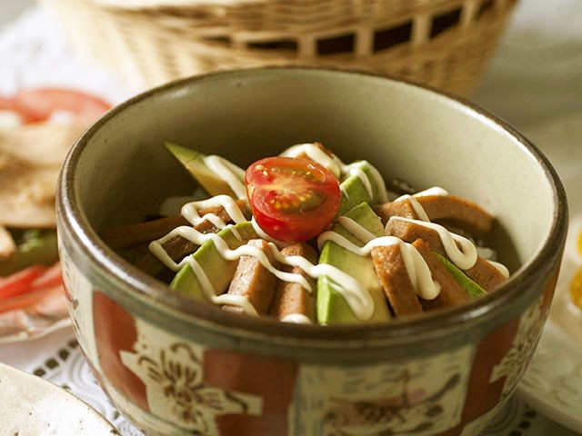 大豆ローフのスパム丼風