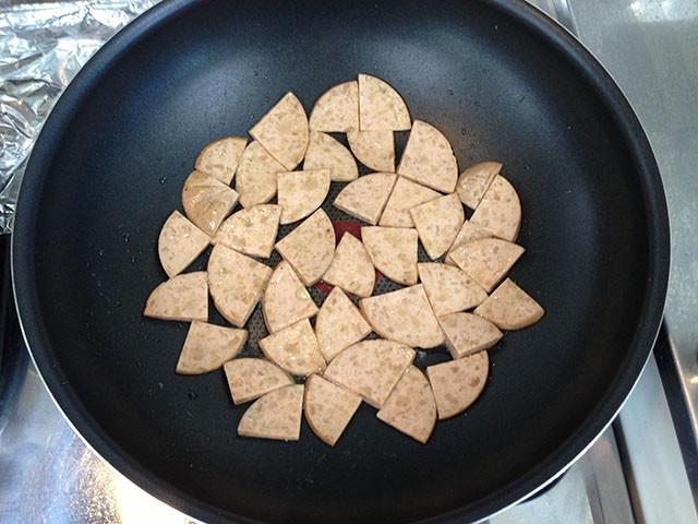 大豆のハムの豆乳クリームスパゲティ 工程4